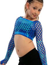 bodkini dancewear   tactel mini tie dye fish  crop top